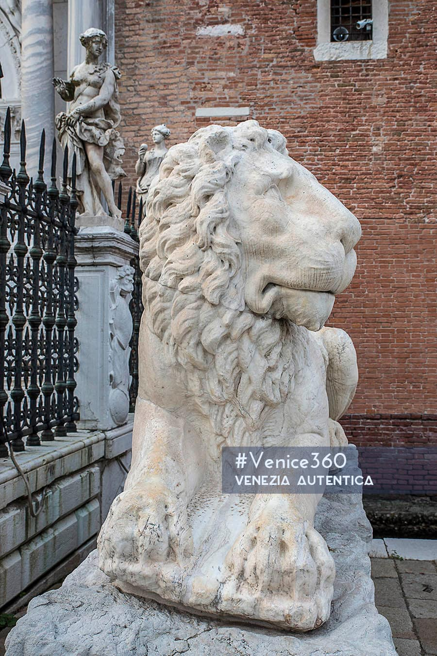 One of the 4 lions at the Arsenale in Venice.