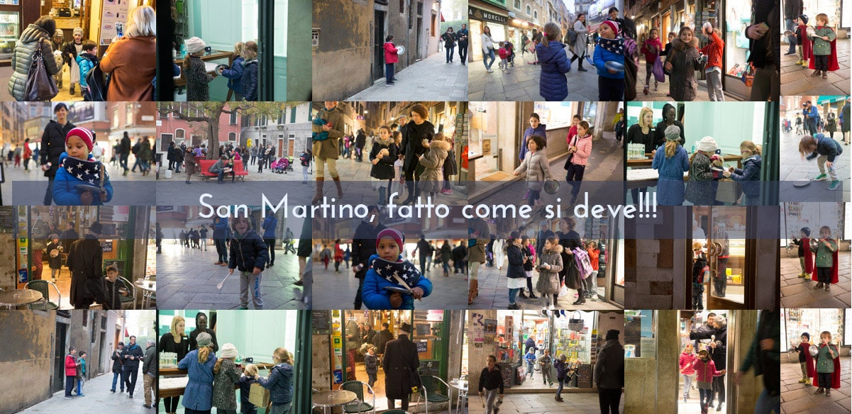 San Martino celebrated by children in Venice.