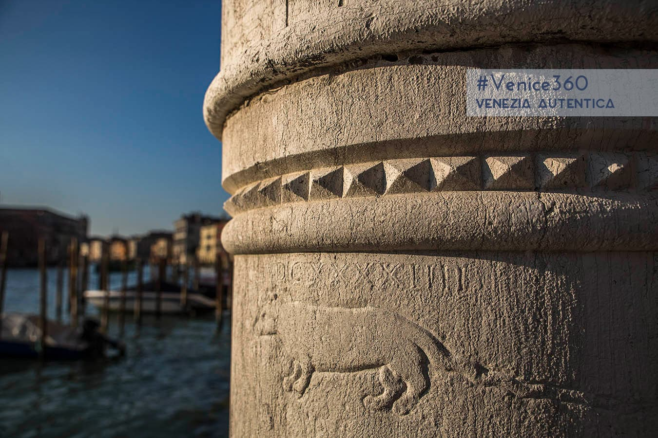 Carving of a rat in Venice, on a column on the Grand Canal. Origins are unknown.