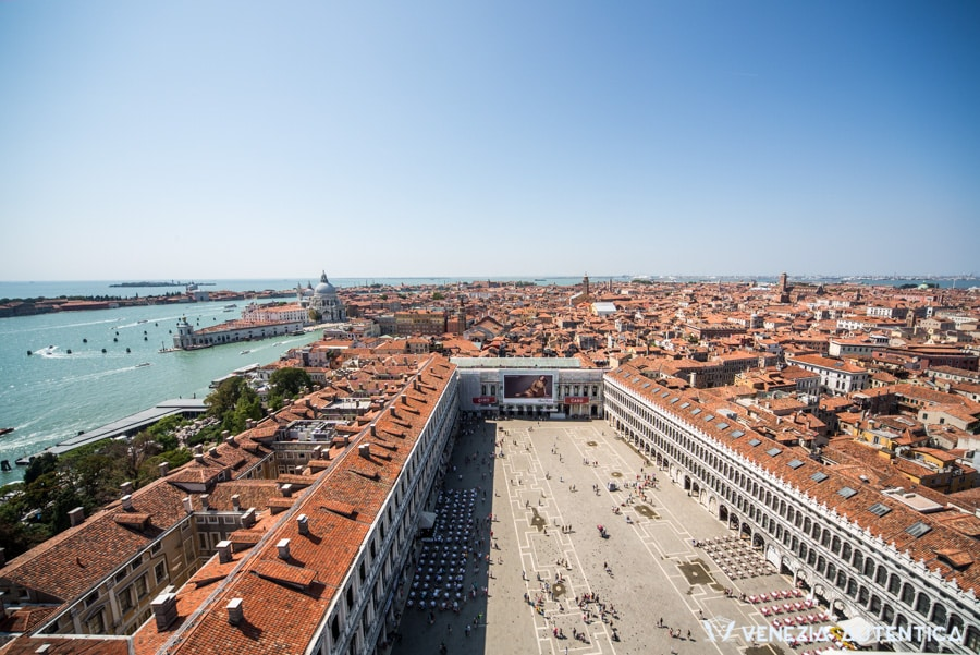 View from the top of Saint Mark's Bell Tower of Saint Mark's Square