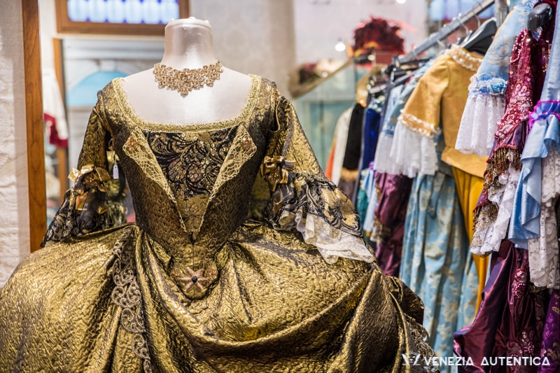 Beautiful Venetian Costume Evening Dress at Atelier Nicolao in Venice, Italy