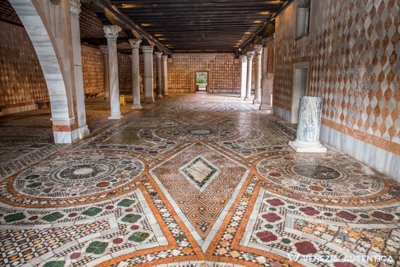 Marble Pavements at Ca' d'Oro in Venice. Multiple marbles layed down by hand by Giorgio Franchetti.
