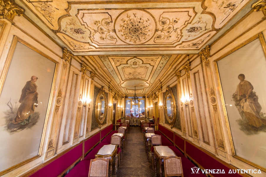 Caffè Florian, in Venice, is the oldest cafè and most famous cafè in the world