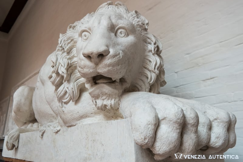 Canova Lion at the Accademia Galleries in Venice