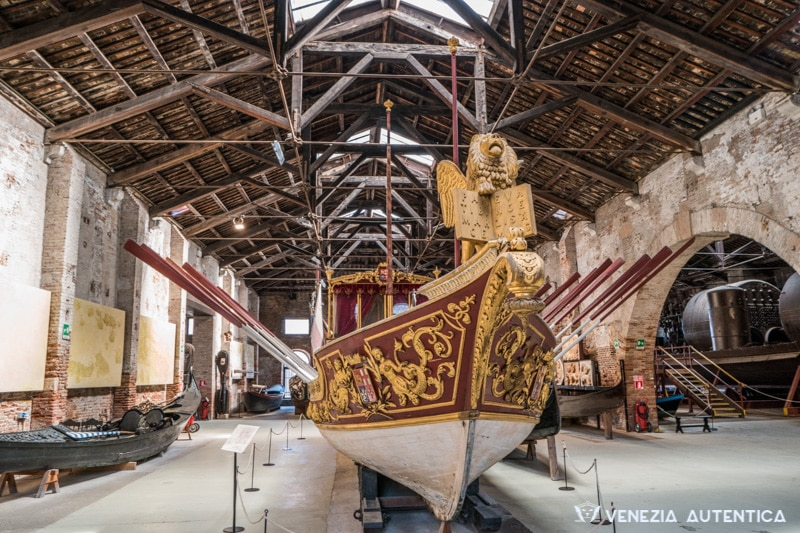 Royal Barge in the Ship Pavillon of the Arsenale in Venice