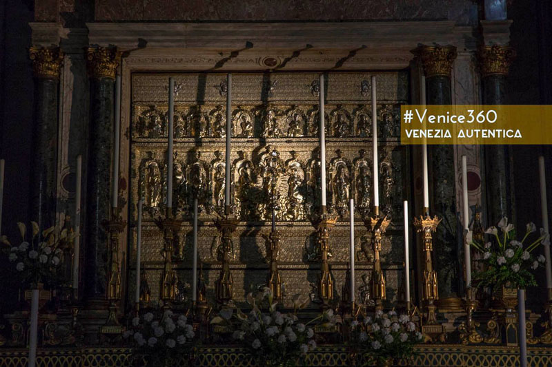 Secreat altar masterpiece in Venice, Italy. It is visible only very few days every year.