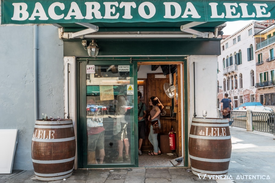 "The ""Bacareto da Lele"" in Venice, close to Piazzale Roma, is one of the most known and appreciated bacari in town. Great Prices, Great Quality, Great and Friendly Service."