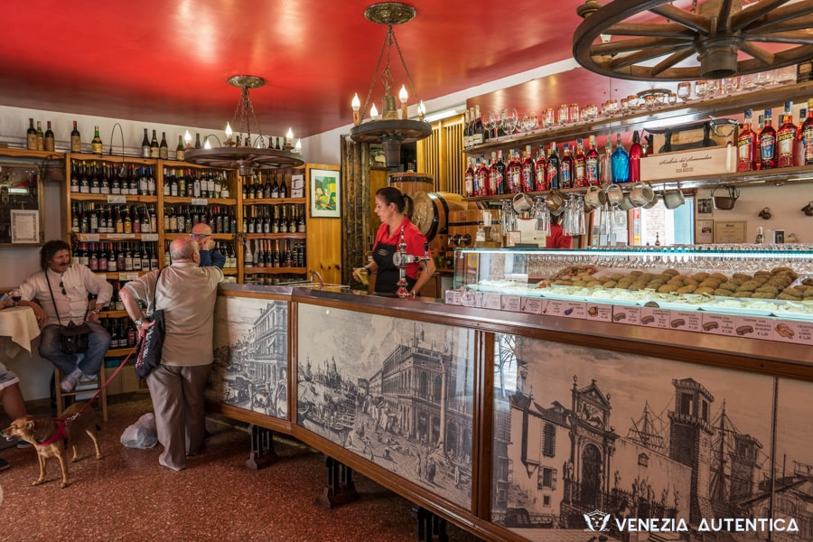 "The bacaro ""Cantina Aziende Agricole"" in Venice in the district of Cannaregio offers a great variety of fresh, tasty, big and affordable cichetti that force every venetian to stop when passing by."