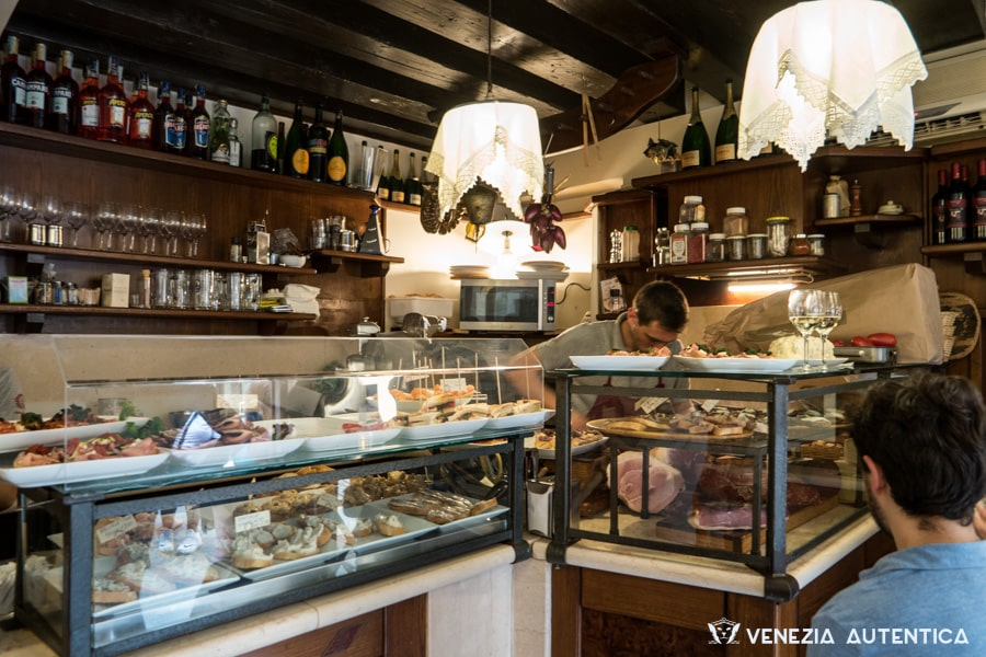 Osteria all'Arco in San Polo offers great cichetti and is a favourite of the locals.
