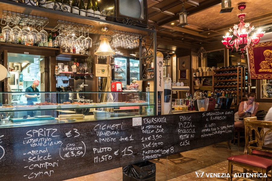 "The bacaro restaurant ""Ruga di Jaffa"" in Venice in the Castello district is an authentic bacaro which offers delicious cichetti and venetian dishes as well as fabulous pasta and risotti at a fair price."