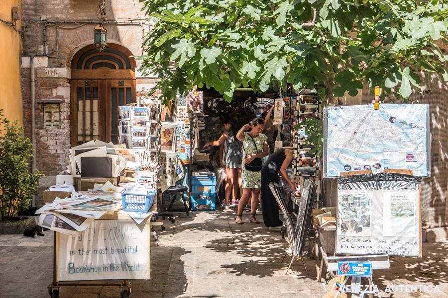 Libreria Acqua Alta in the district of Castello in Venice, Italy