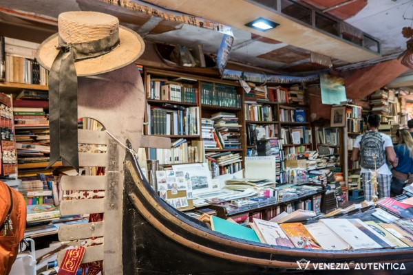 Libreria Acqua Alta in the district of Castello in Venice