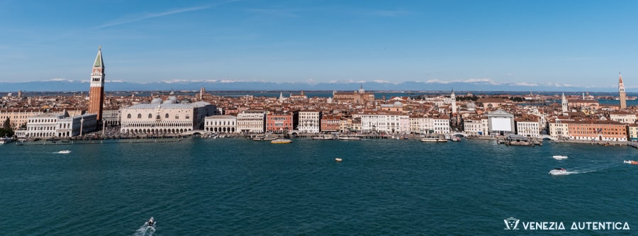 Panoramico view of Venice, Italy, from the San Giorgio's Bell Tower.