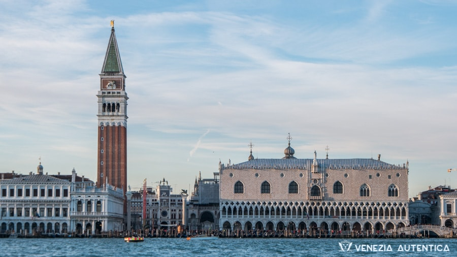 Saint Mark's Bell Tower and Doge Palace seen from San Giorgio Island