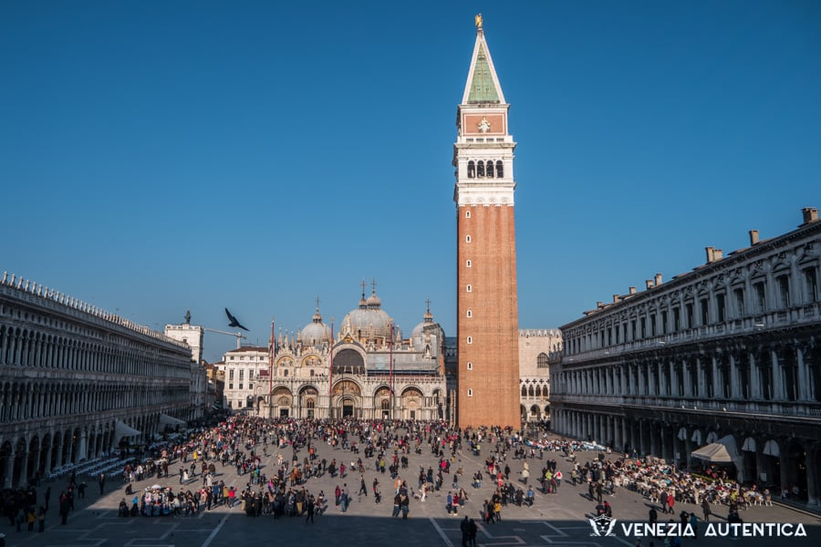 Saint Mark's Bell Tower - Venezia Autentica | Discover and Support the Authentic Venice - irst built in the 9th century, it was used as a watch tower and lighthouse for the dock which was in the position where now is the Piazzetta. Since...