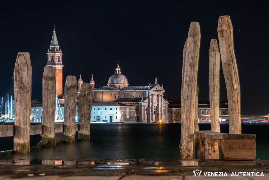 The Island of San Giorgio in Venice, Italy, seen from the Riva degli Schiavoni