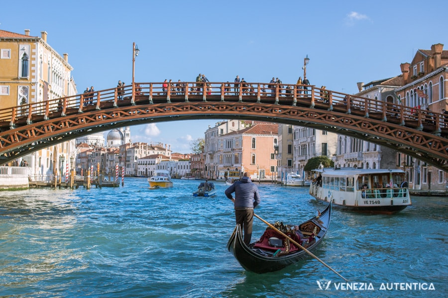 Accademia Bridge on the Grand Canal in Venice