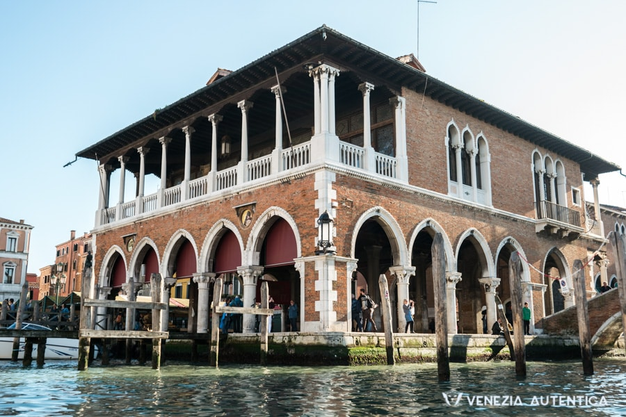 The Pescheria overlooking the Grand Canal in Venice