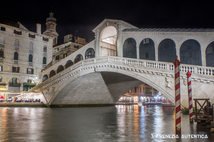 The Rialto Bridge on the Grand Canal in Venice