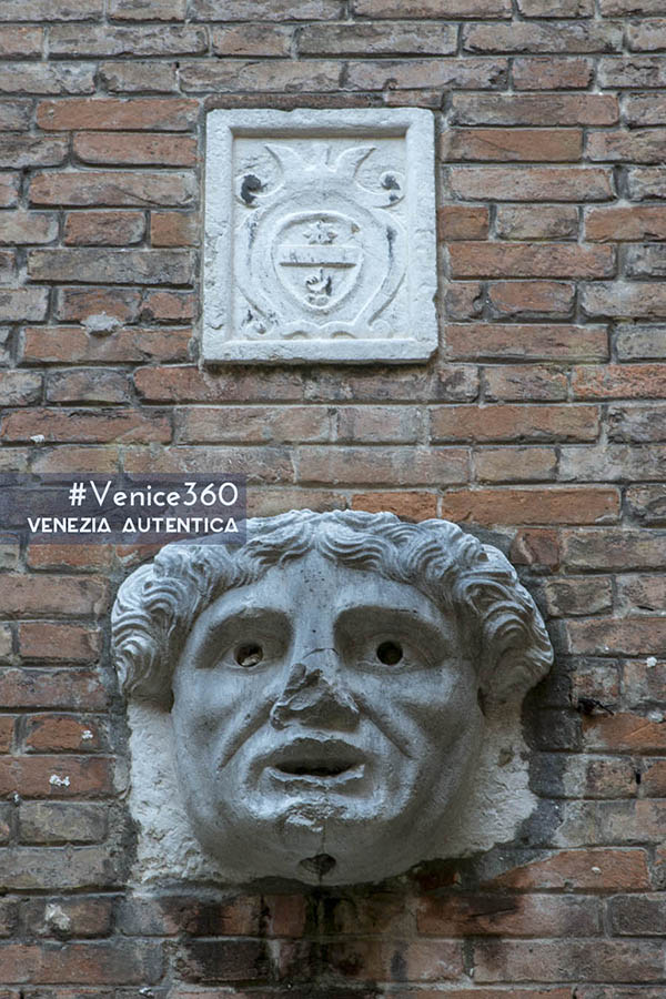 Head letterbox on the executioner's house in Venice, Italy