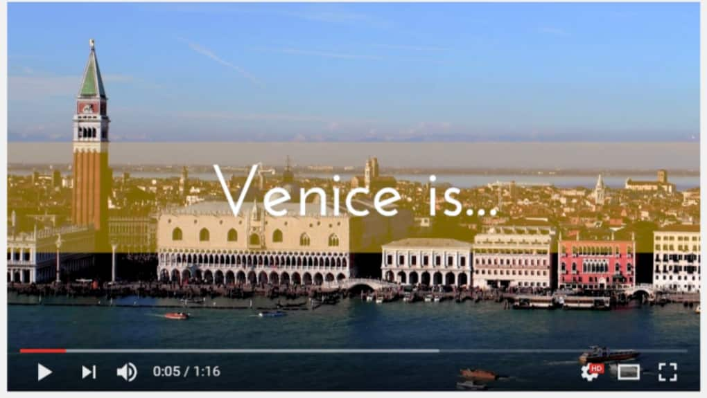 Video by Venezia Autentica showing what the authentic Venice is made of