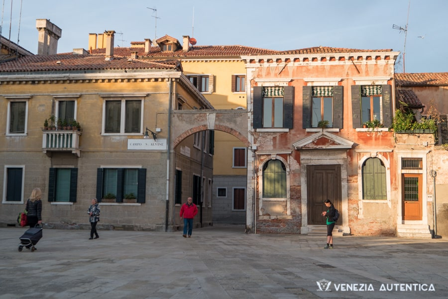 Campo Sant'Alvise in Venice, Italy, close to one of the biggest rowing clubs of the city