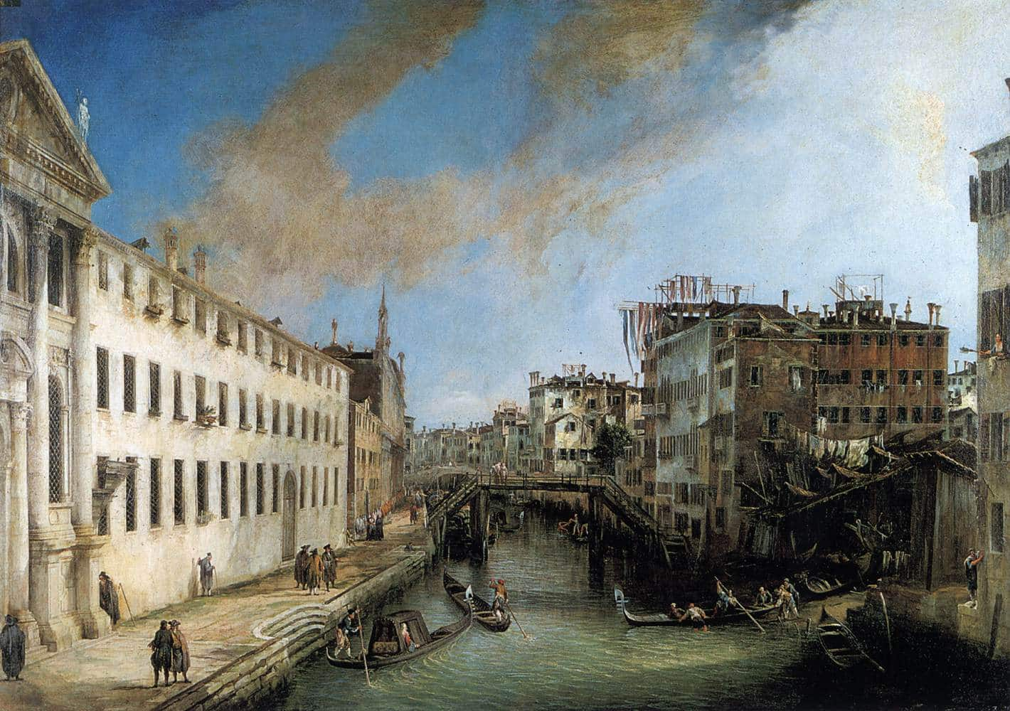 Venice in the past can be seen in Canaletto's paintings