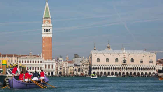 A Caorlina boat and Venetian Rowing are two of the many aspects that answer the question What is Venice?