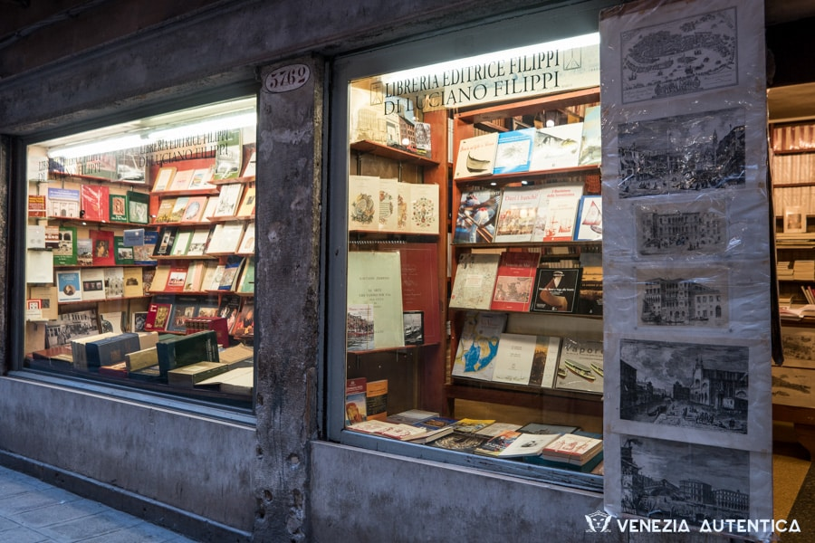 Filippi Bookshop is the oldest bookshop in Venice, Italy