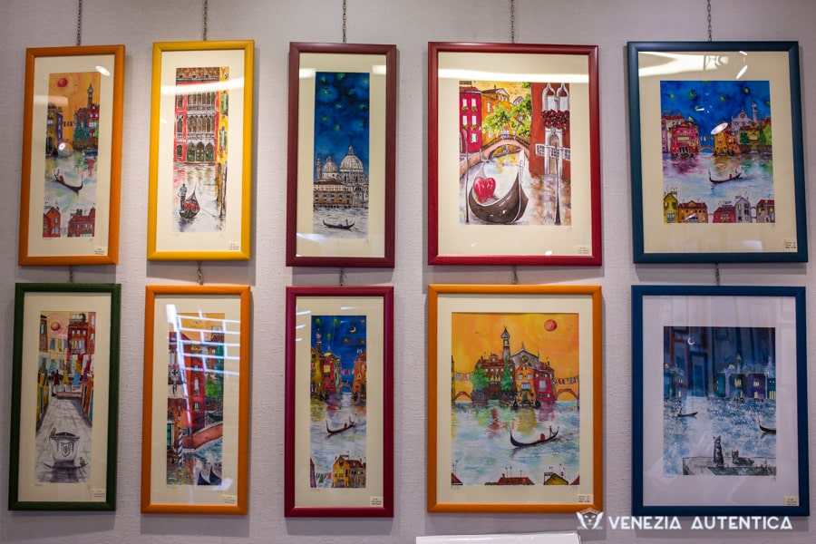 Itaca Art Studio - Venezia Autentica | Discover and Support the Authentic Venice - From abstract paintings and stylized gondolas to realistic paintings of Venetian landmarks, Monica's works all have Venice at their core and are a perfect gift or memoryfor all those people who have Venice in their hearts.