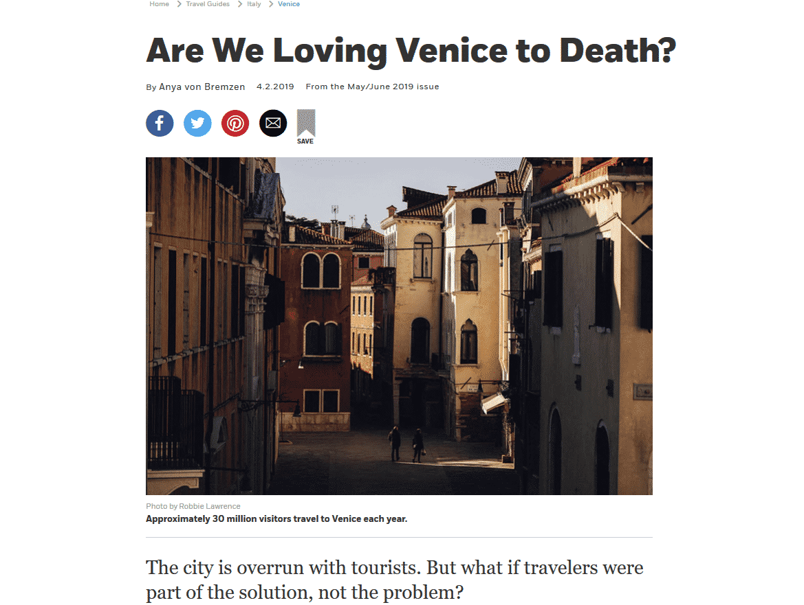 Afar Magazine Highlights Venezia Autentica's Problem-Solving Mission - Venezia Autentica | Discover and Support the Authentic Venice -