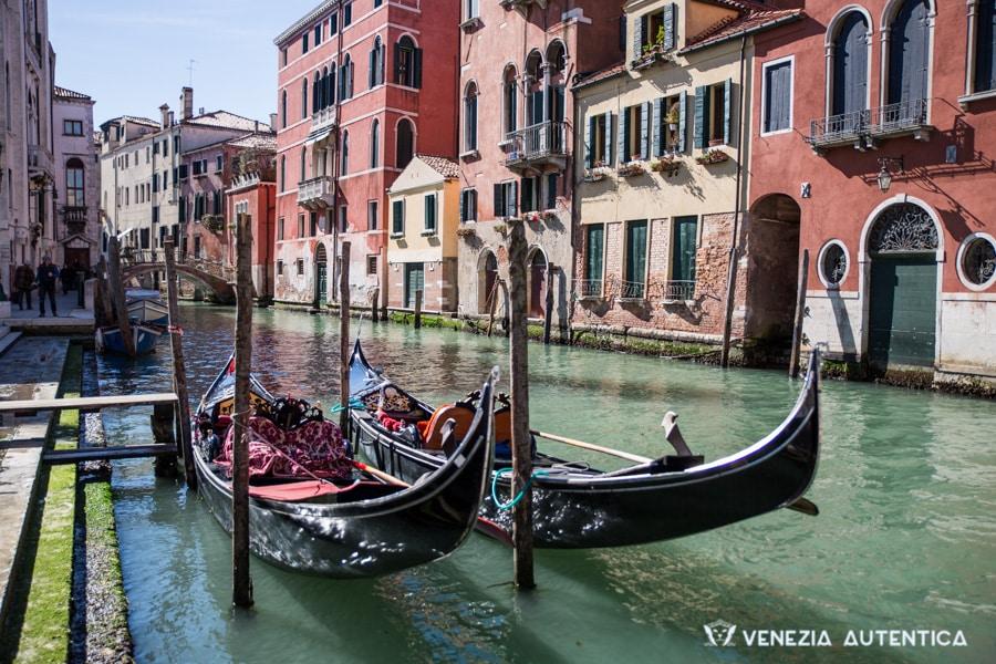 Two gondola in Venice, Italy
