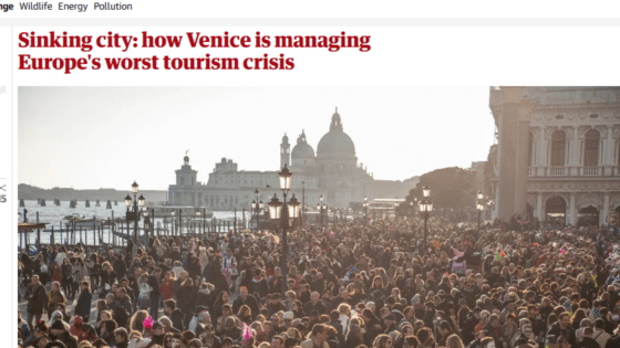 The Guardian features Venezia Autentica solution to Venice tourism crisis