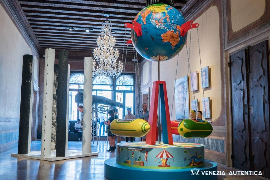 Venice Biennale installations in Palazzos across Venice