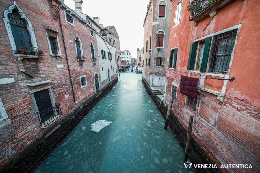 Frozen Canal in Venice
