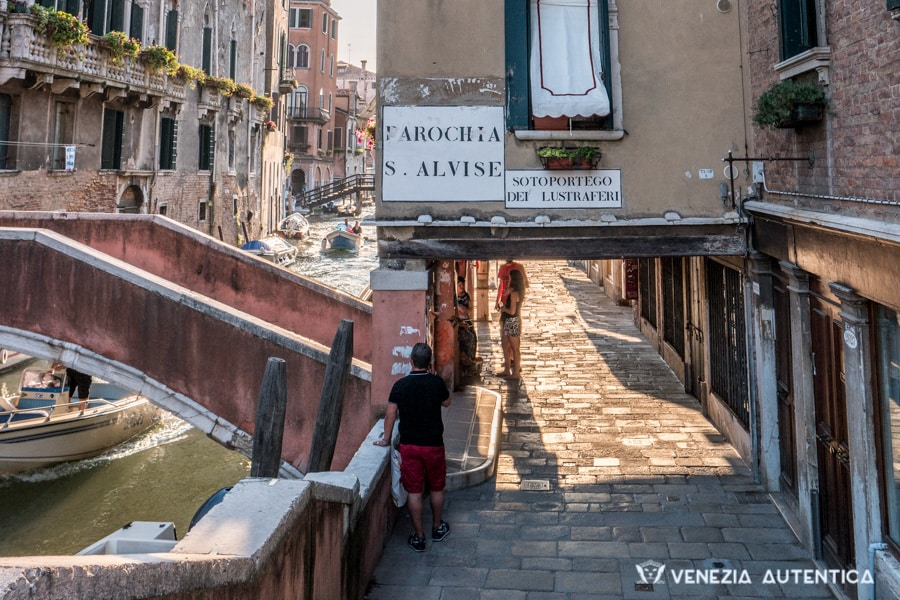 "Street names in Venice are written directly on the walls. They are called nizioleti in Venetian, which means ""small blankets"""