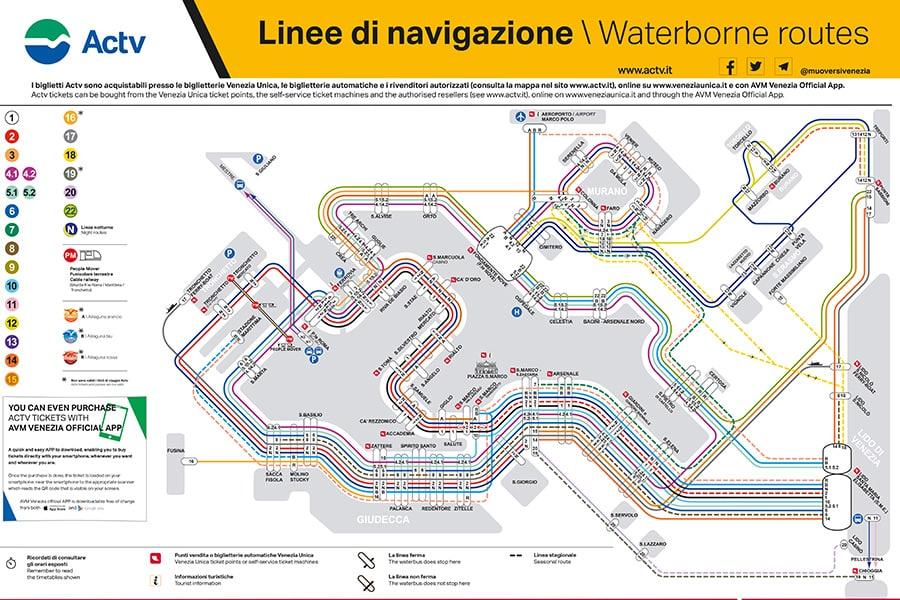Venice Public Water Transportation Lines