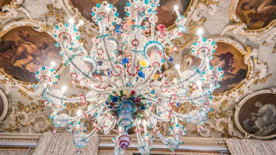 Rezzonico chandelier in Murano Glass