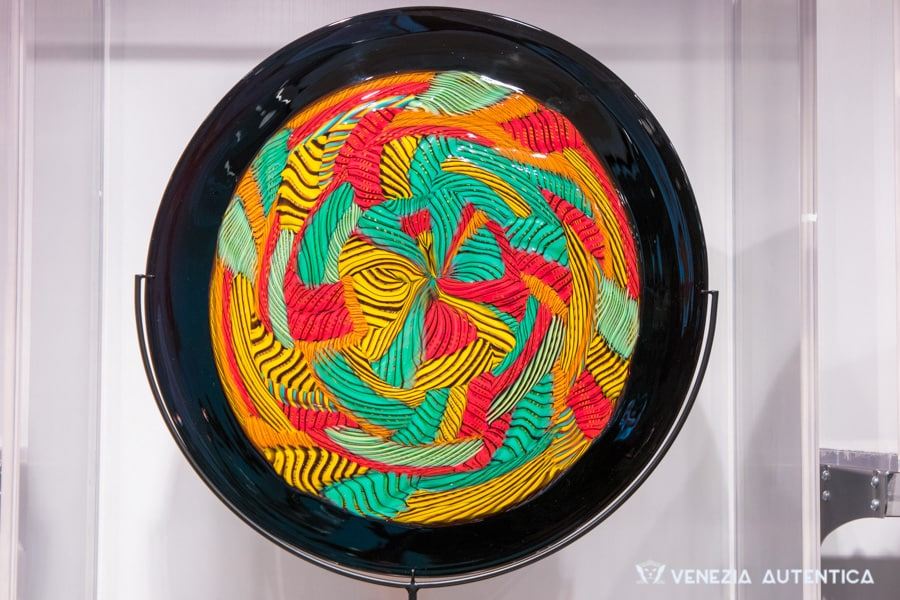 Colourful Murano Glass Plate