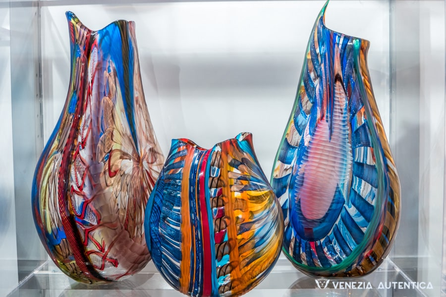 Three Murano Glass vases