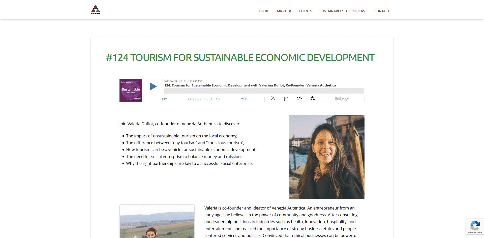 Sustainable: The Podcast Interviews Valeria Duflot of Venezia Autentica - Venezia Autentica | Discover and Support the Authentic Venice -