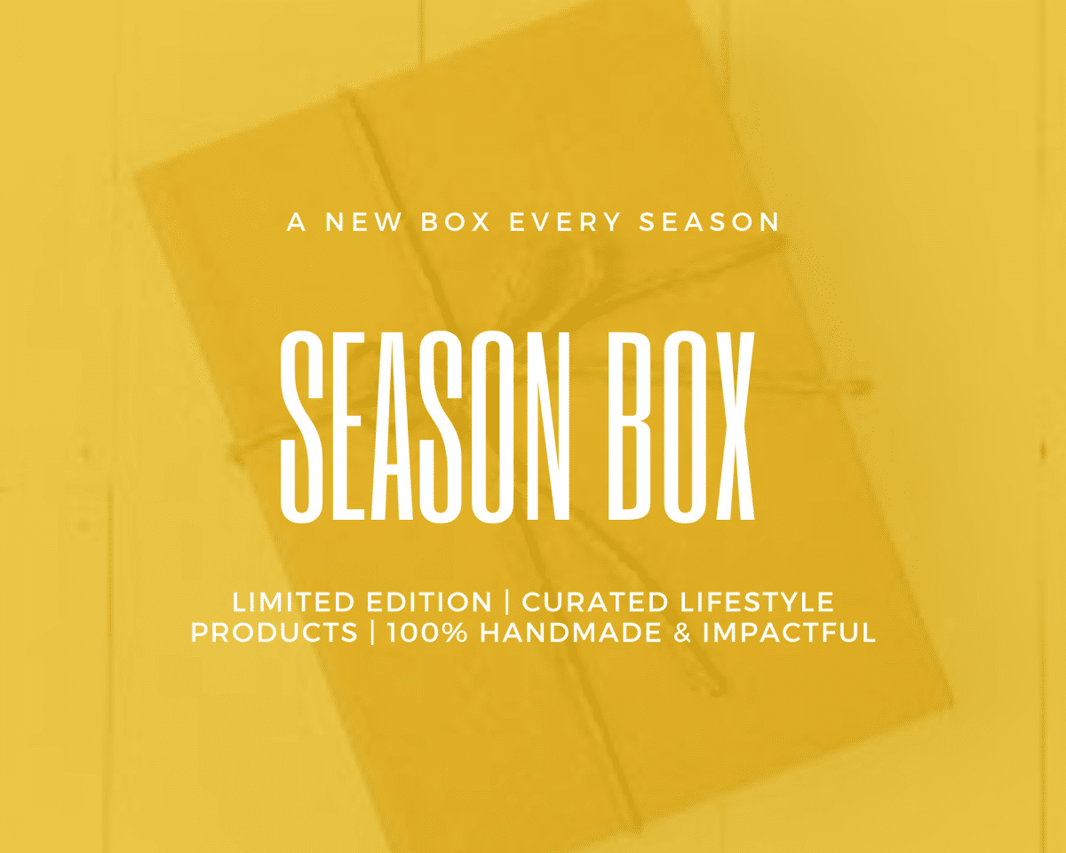 Season Box- 3 months Plan Shop by Venezia Autentica - Shop by Venezia Autentica - Every season get 1 to 2 made in Venice crafts delivered to your doorstep. Unique accessories for your home or for yourself that look great, last a lifetime and make a positive impact. Equivalent to only € 83 per month. Re-bills every 3 months. Each season box contains 1 to 2 items made in Venice, Italy by artists and master artisans. The handcrafted products will bring personality, style, and luxury to your wardrobe and home while making a positive impact! 1 to 2 genuine handmade lifestyle products Stories about the products and makers The wonderful feeling created by having made a positive impact and owning something unique Funding of the planting of trees Free Shipping 100% Satisfaction Cancel Anytime
