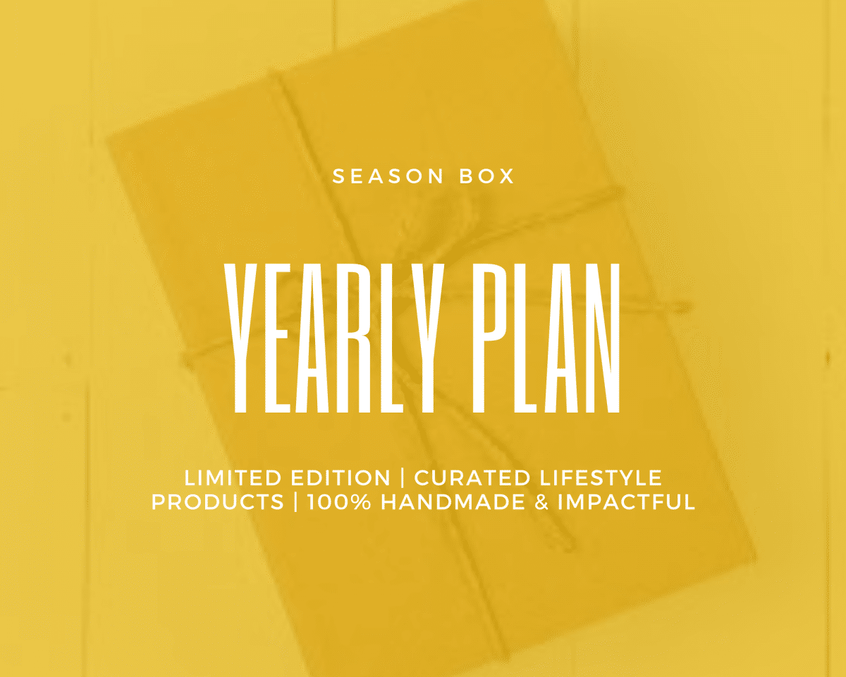 Season Box- Yearly Plan Shop by Venezia Autentica - Shop by Venezia Autentica - Every season get 1 to 2 made in Venice crafts delivered to your doorstep. Unique accessories for your home or for yourself that look great, last a lifetime and make a positive impact. Equivalent to only € 66 per month. Save €204 every year. Re-bills every 12 months. Each season box contains 1 to 2 items made in Venice, Italy by artists and master artisans. The handcrafted products will bring personality, style, and luxury to your wardrobe and home while making a positive impact! 1 to 2 genuine handmade lifestyle products Stories about the products and makers The wonderful feeling created by having made a positive impact and owning something unique Funding of the planting of trees Free Shipping 100% Satisfaction Cancel Anytime