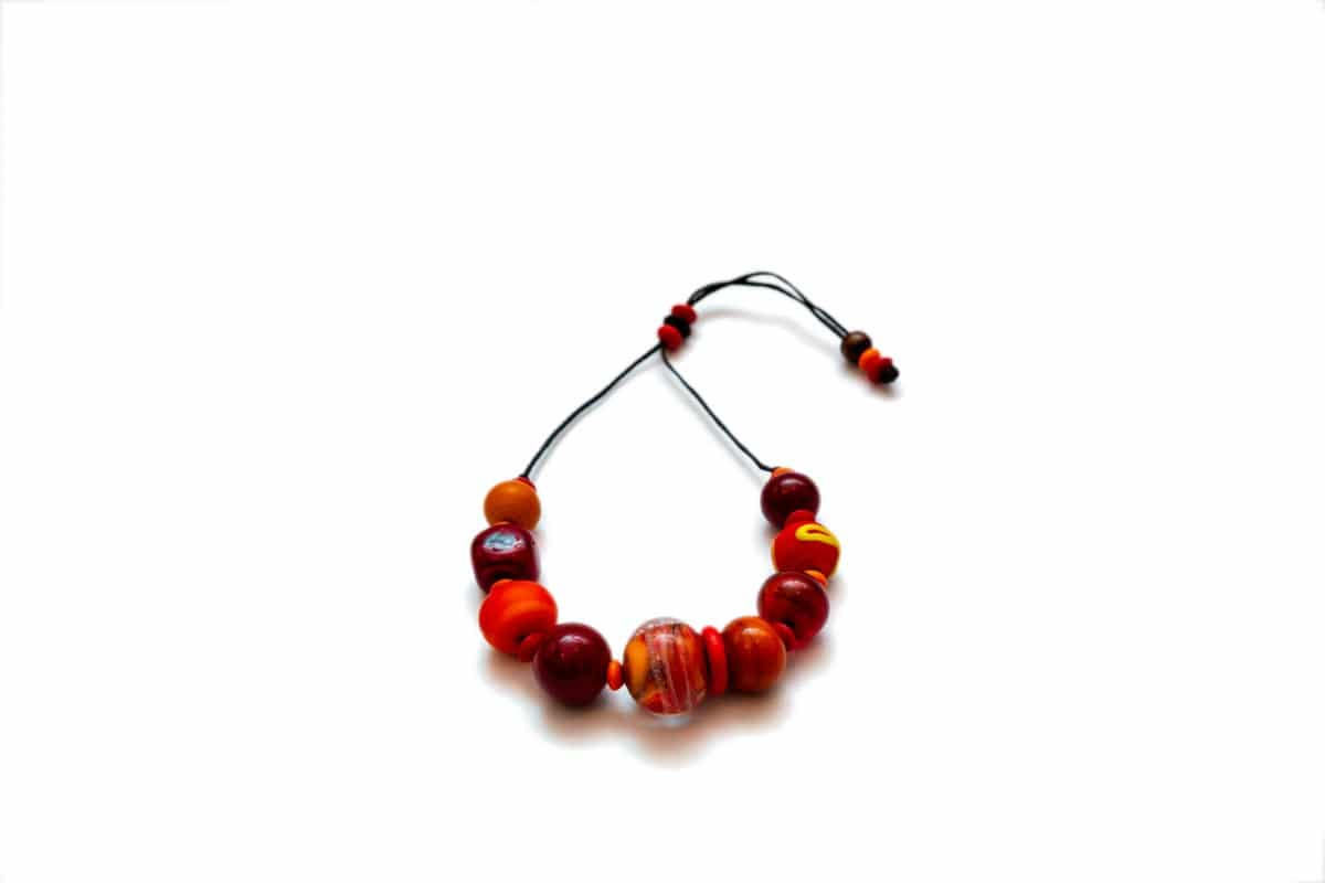 """Venetian Sunset"" Bracelet Shop by Venezia Autentica - Shop by Venezia Autentica - Wonderful Red&Orange Murano Glass bracelet, designed and handmade in Venice, Italy. Every bead, crafted by lampworking, is unique, beautiful, and durable."