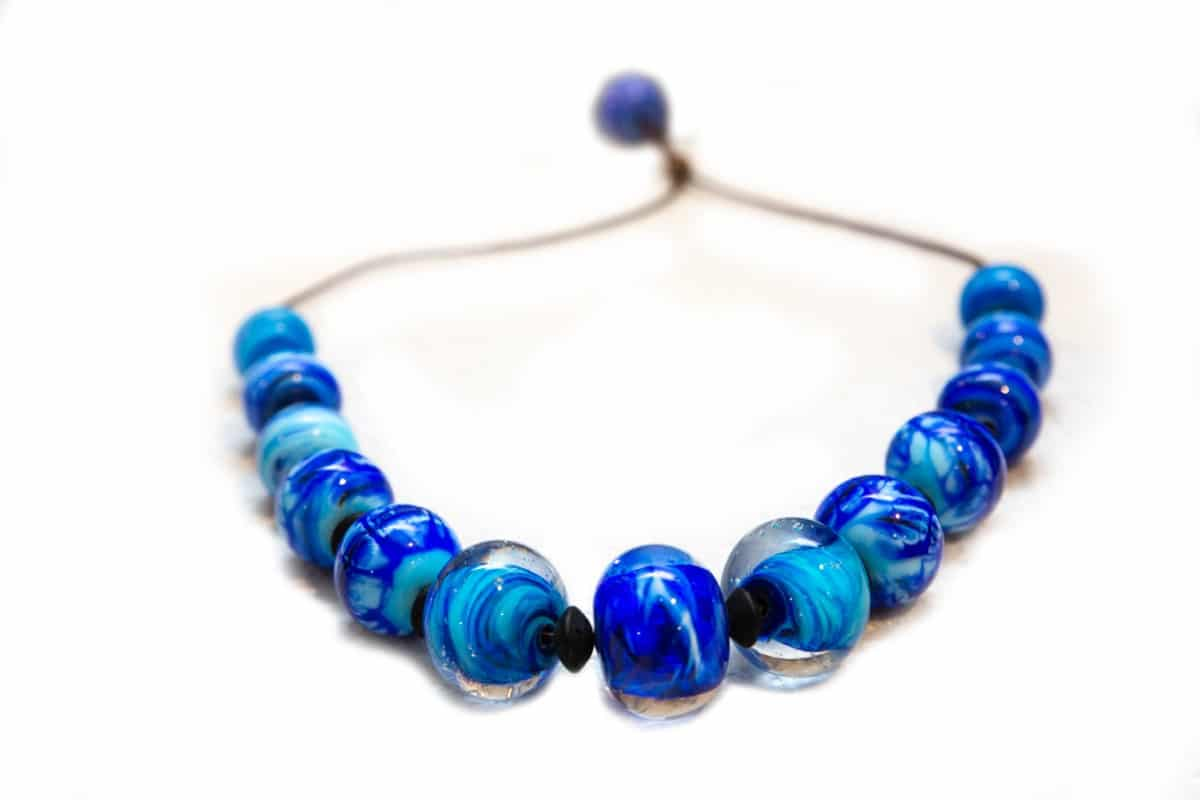 """Deep Lagoon"" Necklace Shop by Venezia Autentica - Shop by Venezia Autentica - Stunning deep-blue Murano Glass necklace, designed and handmade in Venice, Italy. Every bead, handmade through lampworking, is unique, beautiful, and durable"