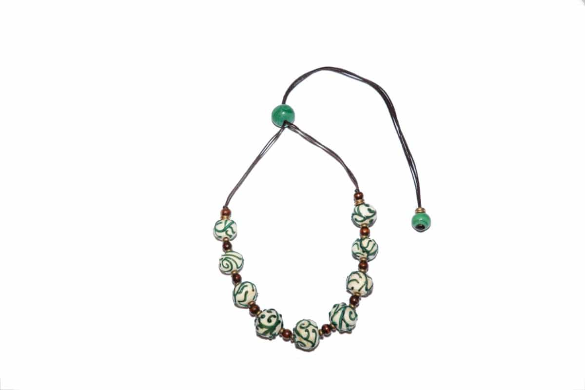 """Seaweed"" Necklace Shop by Venezia Autentica - Shop by Venezia Autentica - Stunning necklace in antique Murano Glass, designed and handmade in Venice, Italy. Every bead, handmade through lampworking, is unique, beautiful, and durable"