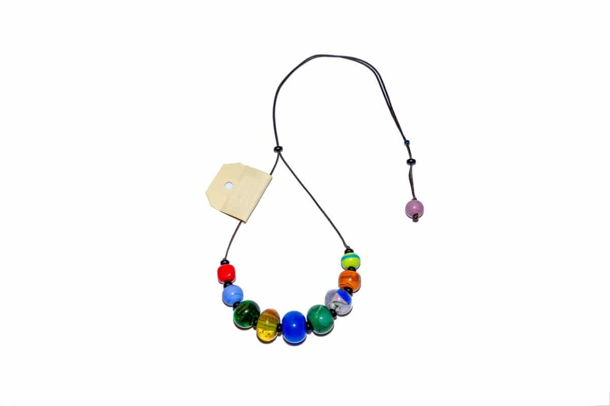 """""""Happiness"""" Necklace Shop by Venezia Autentica - Shop by Venezia Autentica - Beautiful and colourful Murano Glass necklace, designed and handmade in Venice, Italy. Every bead, crafted by lampworking, is unique, beautiful, and durable"""