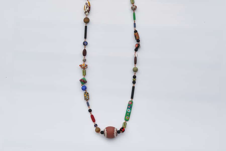 """""""Gypsy Rosetta"""" Necklace Shop by Venezia Autentica - Shop by Venezia Autentica - Colorful and artsy, with a mix of antique and new Murano Glass beads, the style and beauty of this necklace for women will not go unnoticed"""
