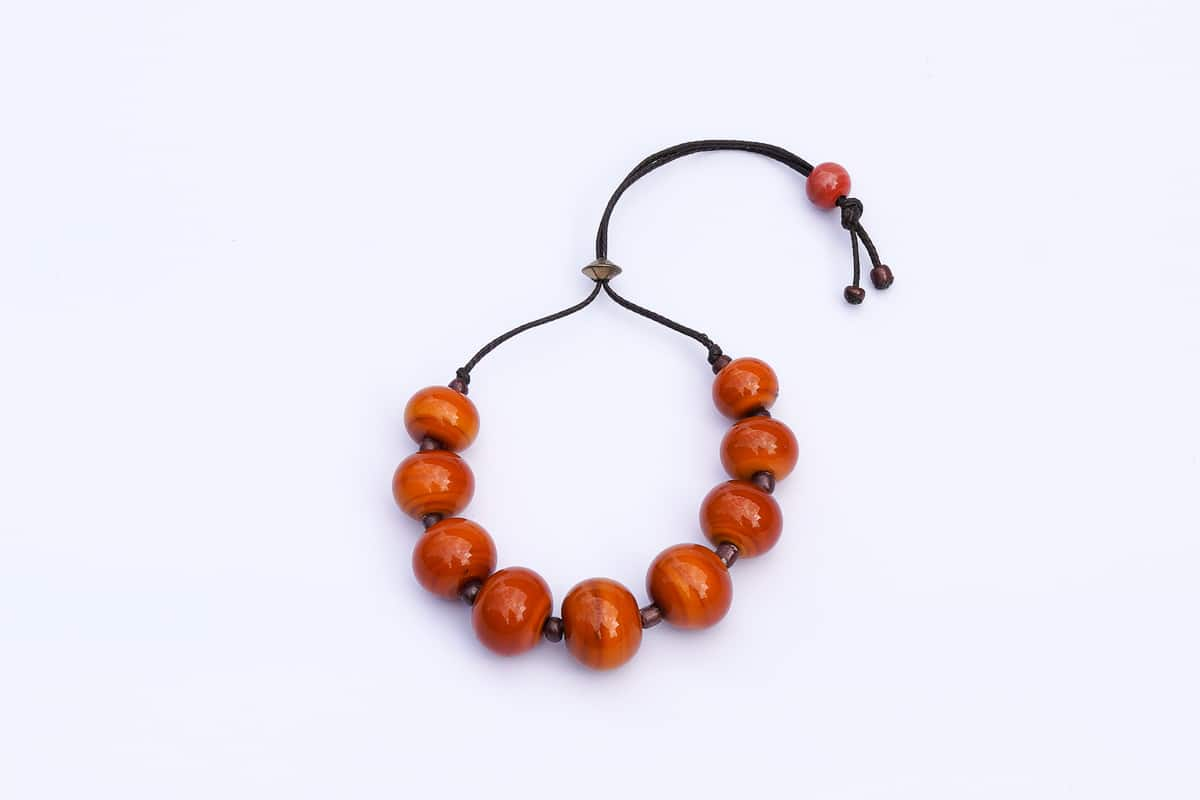 """Murano Jujubes"" Bracelet Shop by Venezia Autentica - Shop by Venezia Autentica - Elegant Murano Glass bracelet, with orange beads, designed and handmade in Venice, Italy. Every bead, crafted by lampworking, is unique, beautiful, and durable."