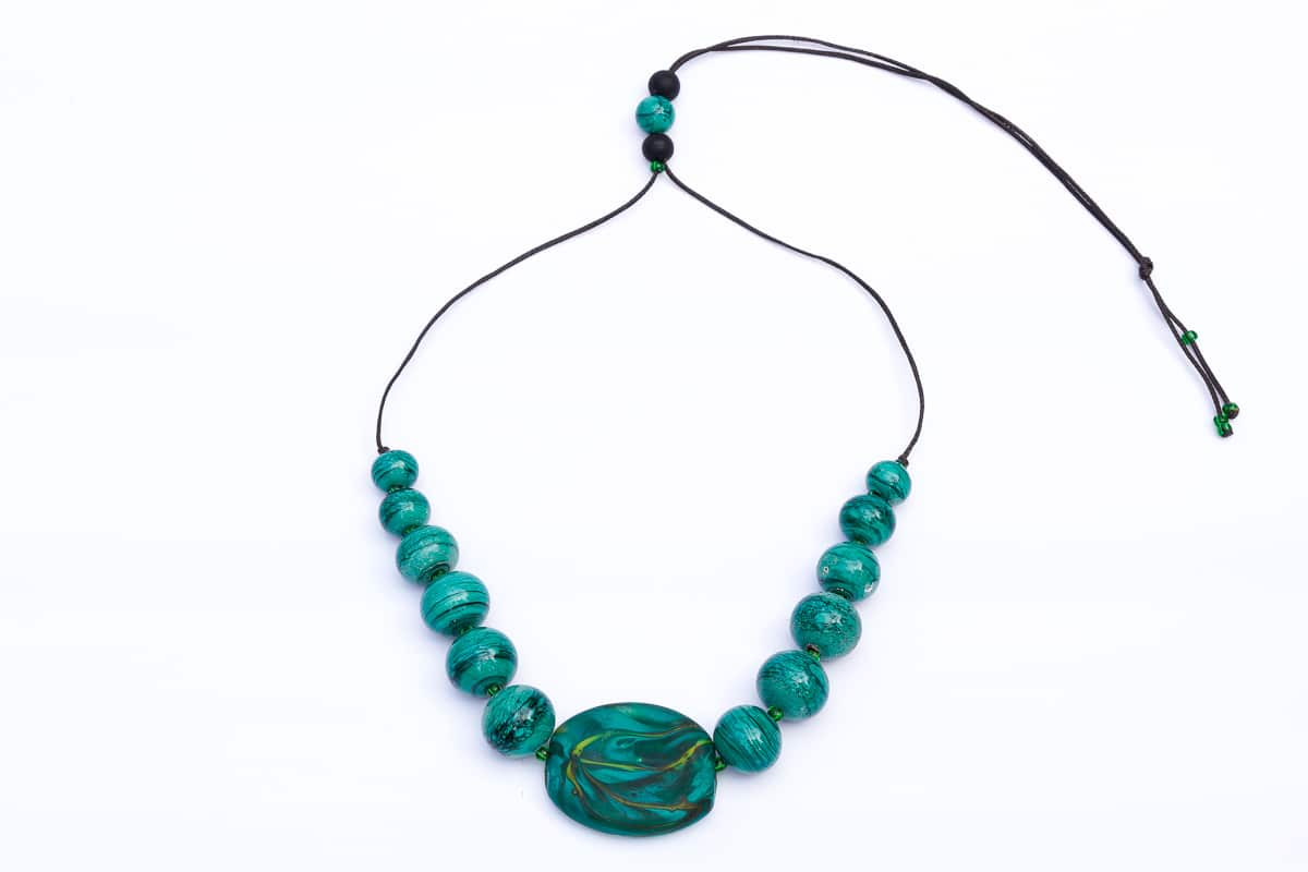 """Earth"" Necklace Shop by Venezia Autentica - Shop by Venezia Autentica - Gorgeous Murano Glass necklace, handcrafted in Venice. Our necklaces are the perfect accessory for all who care about beauty, sustainability, and our Earth."